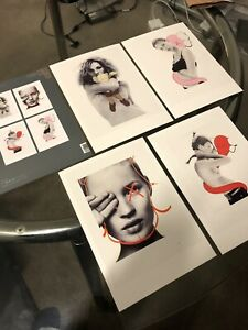 KAWS x DAVID SIMS x KATE MOSS POSTCARD (SET OF 4) *NGV EXCLUSIVE* *NEW* SOLD OUT