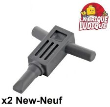 Lego - 2x Minifig utensil Tool Motor Hammer marteau piqueur d b gray 30228 NEUF