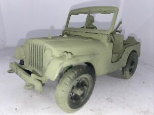 Vintage Marx ? Military Plastic Willys Jeep Army Green Toy