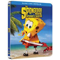 SpongeBob Movie:Sponge Out of Water (SteelBook) (Blu-ray + DVD + Digital HD) New