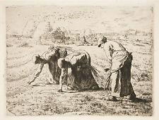 Jean-Francois Millet Reproduction: Les Glaneuses (The Gleaners) - Fine Art Print