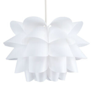 Modern White Geometric Style Funky Ceiling Pendant Light Shade Fitting Lights