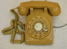 Vintage ITT Yellow Telephone Rotary Dial