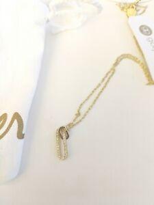 Gorjana Dainty Bar Rhinestone Necklace NWT $60