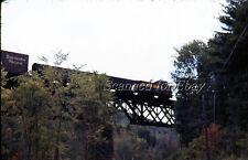 Rutland RR Cuttingsville Vermont Trestle Sept 74 EKTACHROME SLIDE Green Mountain