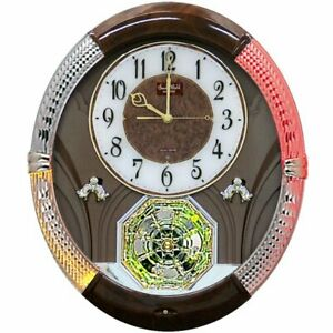 """RHYTHM"" MUSICAL WALL CLOCK -THE JOYFUL MOMENT   W/ 18 MELODIES"