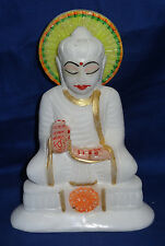 Marble Buddha Sculpture Handmade Color Buddhism Religious Arts Home Decor Gifts