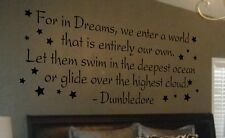Wall Decal Art Sticker Quote Vinyl Lettering Large Dumbledore Harry Potter B66