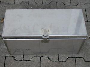 LXBXH 400x170x200 EDELSTAHL  DEICHSELBOX ANHÄNGER KISTE STAUBOX MOTORRADANHÄNGER