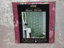 Printed Fabric Shower Curtain Flowers Bath Red NEW!