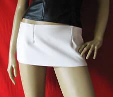 New white fake leather micro mini skirt  ALL SIZES