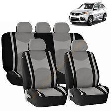 GRAY AIRBAG & SPLIT Bench SEAT COVERS 9pc SET for KIA OPTIMA SORENTO