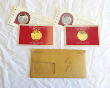 1976 Raphael's Masterpieces 2 Coin 1oz. Gold Plate Sterling Silver Medal Set FM