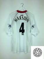 Southampton MARSDEN #4 *MATCH WORN* 02/04 Away Football Shirt (XL) Soccer Jersey