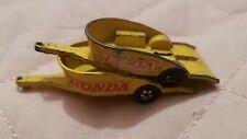 Matchbox  Honda Motorcycle Trailer x2 lesney