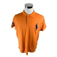 Polo Ralph Lauren Custom Slim Fit Big Polo Embroidered Orange Polo Shirt Mens XL