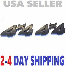 2 Black 4 X 4 Smoked EMBLEM 4X4 Truck Logo BADGE Decal boat SIGN letters front