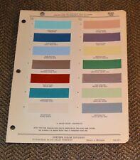 VTG 1960  Ditzler Auto Color Paint Chip Edsel 6011