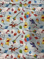 Disney Winnie The Pooh Fabric 1/4 Yard X 43 Inches Cotton