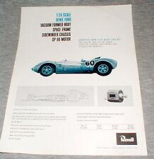 1965 Revell 1/24 Scale Genie Ford Advertising Dealer Flyer Print Slot Cars NOS