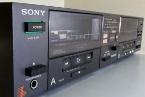 SONY TC-W5 Stereo Double Cassette Tape Player And Recorder BOTH DECKS FUNCTIONAL