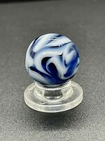 "Alley Agate Marble BUSY Vintage Alley Flame Swirl Marble 0.669"" As Mades"