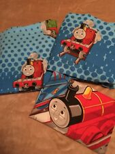 Thomas & Friends 3 pc Twin Sheet SET Flat Fitted Pillowcase Cranky Percy Fabric