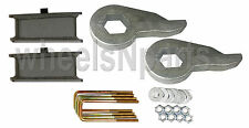 "Lift Kit Chevy Torsion Keys 3"" Fabricated Steel Blocks 88-98 6 Lug 4x4 Truck SUV"