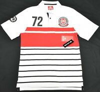 Ecko Unltd Polo Shirt Men Size M Logo Rhino Patch Striped Urban Streetwear P237