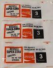 COCA COLA 3 PACKETS 1978 RUSSELL SUPER CORD YO YO STRINGS COKE YOYO YO-YO YO YO