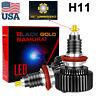 2X H11 LED Headlight H9 H8 Bulbs Kit 6-sides Bright High or Low Beam 6000K XENON