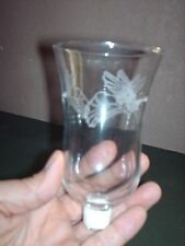 HOME INTERIORS CLEAR ETCHED ANGEL VOTIVE CUP OR CANDLE HOLDER -REPLACEMENT PART