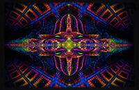 Ultraviolet Neon blacklight glow Psychedelic Trippy Wall hanging UV psy tapestry