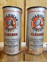2 Vintage Gaurdian Service Cleaner by Century Metalcraft Corp Un-opened 8 oz Can