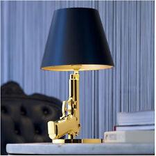 New Modern Gun Table Lamp Desk Lighting Beside Lamp Working Light Silver/Golden