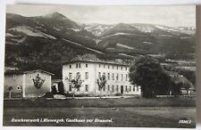 AK BUSCHVORWERK i. Riesengebirge, Gasthaus Brauerei, Werbekarte, Browar/Kowary