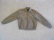 Men's London Fog Jacket Lightweight Taupe Small Zipper Front