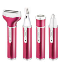 4 in 1 Rechargeable Hair Trimmer Electric Women Ear Nose Eyebrow Beard Shaver ZE