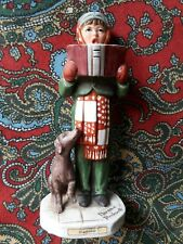 Norman Rockwell's 'The Caroler' Figurine by Dave Grossman Saturday Evening Post