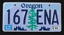 "OREGON "" TREE - 167 ENA "" 2011 OR Graphic License Plate"