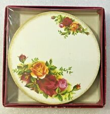 4 Royal Albert Old Country Roses Cork Back Coasters New Unopened in Box
