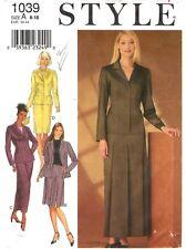 Style Sewing Pattern Women's SUIT JACKET & SKIRTS 1039 Sz 8-10-12-14-16-18 UNCUT