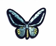 BUTTERFLY Peace Love Lilac Embroidered Iron Sew On Patch Hippy Nature
