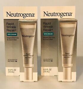 2 Neutrogena Rapid Wrinkle Repair Eye Creams NEW IN BOXES 2 ITEMS