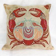 Cancer Zodiac Symbol cotton linen cushion cover hippie bohemian throw pillow