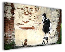 Quadri famosi Banksy V stampe riproduzioni su tela copia falso d'autore