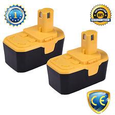 2pcs 18V 2.0Ah Battery For Ryobi BPT1027,RY1804,B-1815-S,130256001,JSP-180QEOM