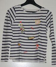 2d2a7bcb3db6f Haut t-shirt manches longues rayé style marinière marque DPAM taille 10 ans