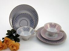 Sammeltassen Jäger Eisenberg 2 Stück Qualitäts Porzellan hellblau & rosa