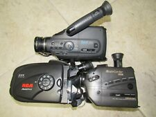 Lot Of 3 Rca Memorex Magnavox Vhs-C Camcorders Tested Working 22X 8X Zoom 1990s